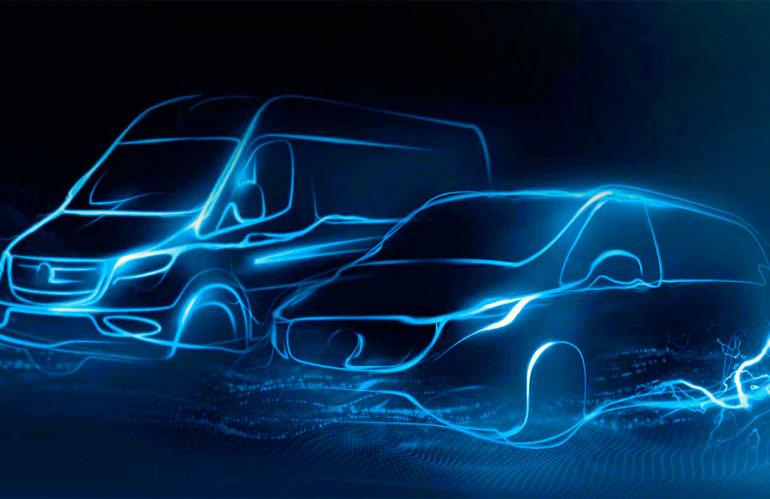 Знакомство с электро-фургонами Mercedes в Германии